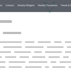 sticky navigation for weebly