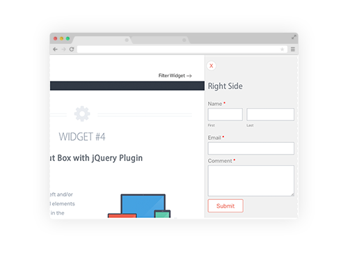 Weebly widgets 4 slide out box css3 and jquery